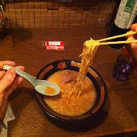 Delicous ramen being consumed!